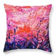 Bluegrass Sunrise - Rose A-left Throw Pillow