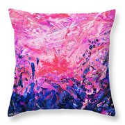 Bluegrass Sunrise - Violet A-left Throw Pillow