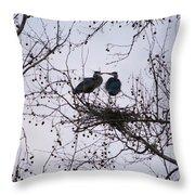 Blueherron Mating Time Throw Pillow