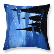 Bluenight Throw Pillow