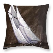 Bluenose At Night Coming Throw Pillow