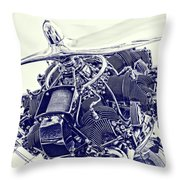 Blueprint Radial Throw Pillow by Steven Richardson