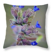 Blues A Bloomin' Throw Pillow