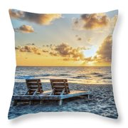 Blues And Golds Of Summer II Throw Pillow