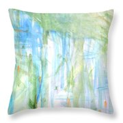 Blues And Greens 2 Throw Pillow