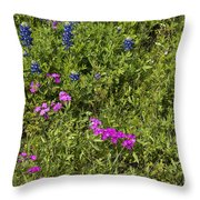 Blues And Pinks Throw Pillow