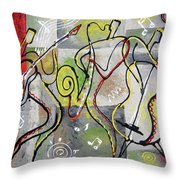 Blues And Rock Throw Pillow
