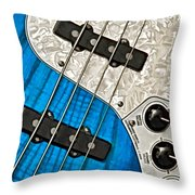 Blues Bass Throw Pillow