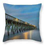 Blues Beach Throw Pillow