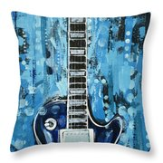 Blues Guitar Throw Pillow