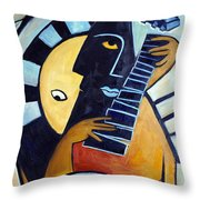 Blues Guitar Throw Pillow
