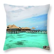 Blues In Maldivian Performance  Throw Pillow