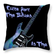 Blues Is The Cure Throw Pillow