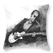 Blues Man Joe B. Throw Pillow