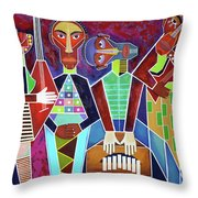 Blues Music Throw Pillow