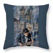 Blues Of Prague. Throw Pillow