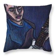 Blues Player Throw Pillow