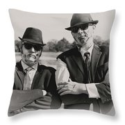 Blues Walkers Throw Pillow