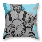Bluesman Throw Pillow