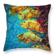 Bluestriped Grunts Throw Pillow