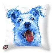 Blueterrier Mix 2989 - Wb Throw Pillow