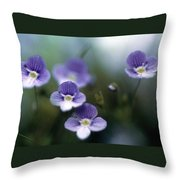 Bluettes Throw Pillow
