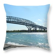 Bluewater Bridges Throw Pillow