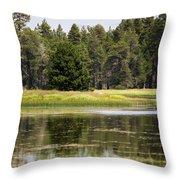 Bluff Lake Ca 12 Throw Pillow