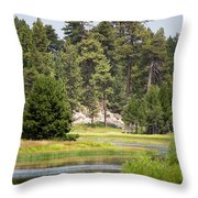Bluff Lake Ca 13 Throw Pillow