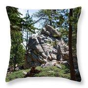 Bluff Lake Ca Boulders 1 Throw Pillow