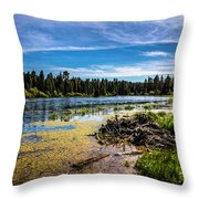 Bluff Lake  Throw Pillow