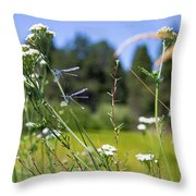 Bluff Lake Wild Flowers 2 Throw Pillow