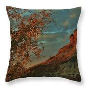 Bluffs Along The Saline River North Of Russell, Kansas. Throw Pillow