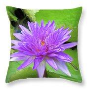 Blumen Des Wassers - Flowers Of The Water 17 Throw Pillow