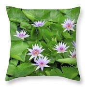 Blumen Des Wassers - Flowers Of The Water 22 Throw Pillow