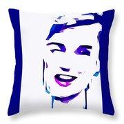 Blur Girl 13 Throw Pillow