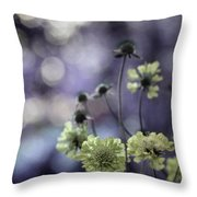 A Meadow's Blur Of Nature Throw Pillow