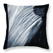 Blurred Detail For Falling Water Throw Pillow