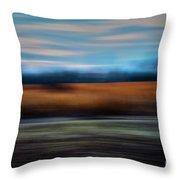 Blurred Field Throw Pillow