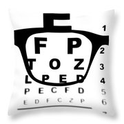 Blurry Eye Test Chart Throw Pillow
