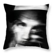 Blurry Mr Kwiecinski Throw Pillow