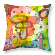 Blurry Mushroom And Other Things Throw Pillow