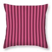 Blush Pink Striped Pattern Design Throw Pillow