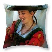 Blushing Bavarian Bridesmaid Throw Pillow