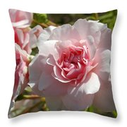 Blushing Beauty Throw Pillow