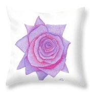 Blushing Blue Throw Pillow