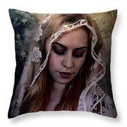 Blushing Bride Throw Pillow