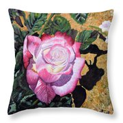 Blushing Rose Throw Pillow