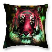 Blushing Tiger Throw Pillow
