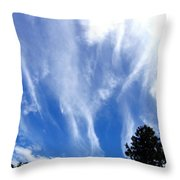 Blustery Sky Throw Pillow